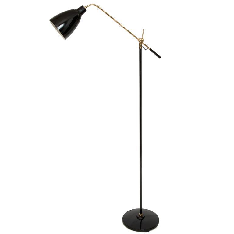 Dominici counter balance articulated arm floor lamp in brass and dominici counter balance articulated arm floor lamp in brass and black enamel for sale aloadofball Images