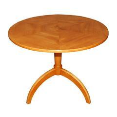 "Swedish Art Moderne ""Spiderweb"" Tripod Pedestal End Side Table"
