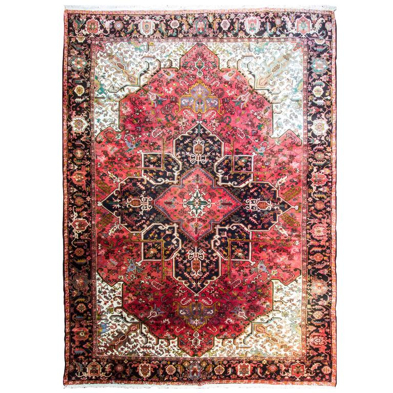 Persian Heriz Carpet At 1stdibs