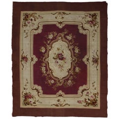 Antique French Aubusson Rug with Louis XV Savonnerie Rococo Style