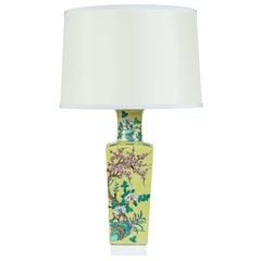 Custom Designed Chinese Yellow Urn Lamp by William Haines