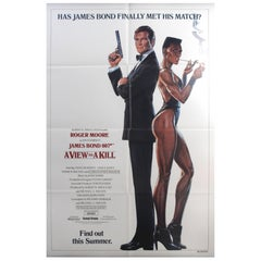 "Original Vintage 007 James Bond Movie Poster ""A View To A Kill - Roger Moore"""
