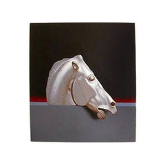 Painting of the Famous Horse Sculpture from the Parthenon by Lynn Curlee