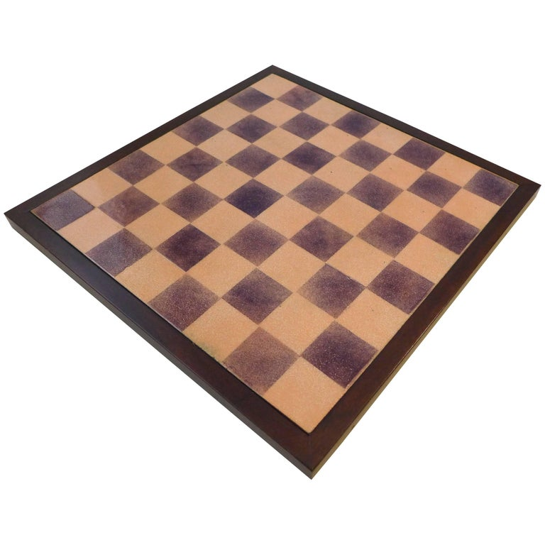 Paolo De Poli Enamel Chessboard For Sale