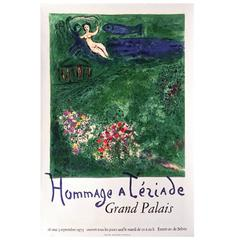 French Mourlot Exhibition Poster for Chagall, Paris, 1973