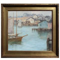 California Harbor Painting by Maurice Braun