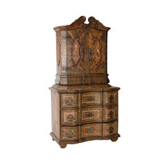 Miniature Tyrolean Cabinet with Original Painted Decoration