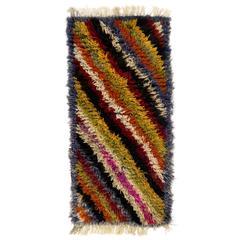 """Colorful """"Rainbow"""" Mohair Tulu Rug"""