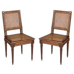 Pair of Louis XVI Cane Chairs