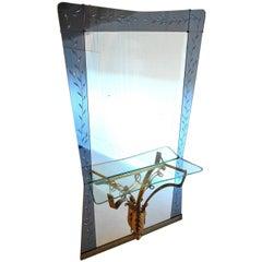 Mid Century Modern Italian Hallway Mirror by Pier Luigi Colli