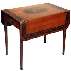 George III Painted Satinwood Pembroke Table, England, circa 1790