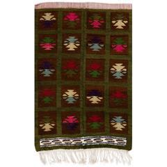 One of Kind Vintage Tulu Rug