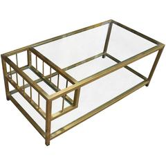 Brass and Glass Mastercraft Style Coffee Table