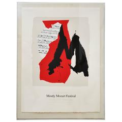 Robert Motherwell Mostly Mozart Festival Print