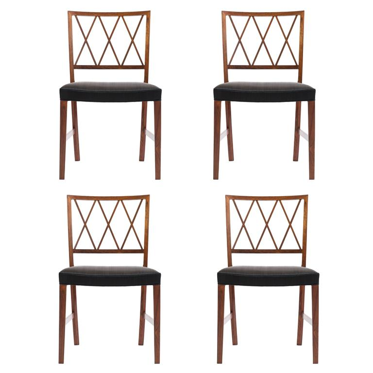 Set of four Ole Wanscher Rosewood chairs for A. J. Iversen 1