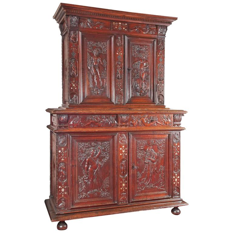 Rare French Renaissance 16th Century Cabinet