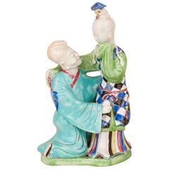 Chinese Porcelain Famille Rose Lovers Group, 18th Century