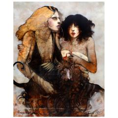 """Homage a De Dali"" Oil on Canvas by Ramon Santiago, American, 1943-2001"