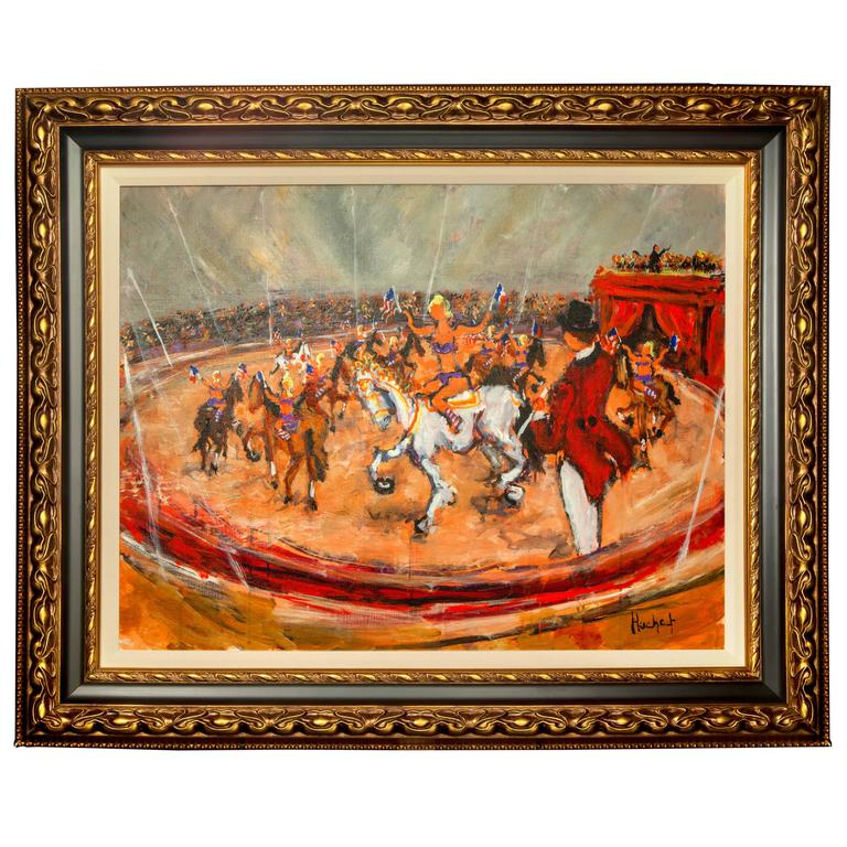 "Original Painting, ""Au Cirque,"" by Urban Huchet"