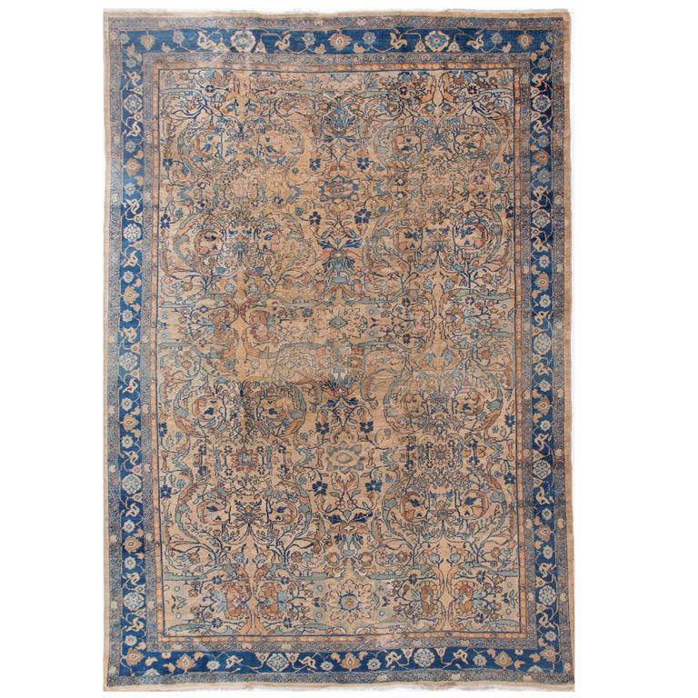 Antique Circa 1890 Persian Feraghan Rug For Sale At 1stdibs