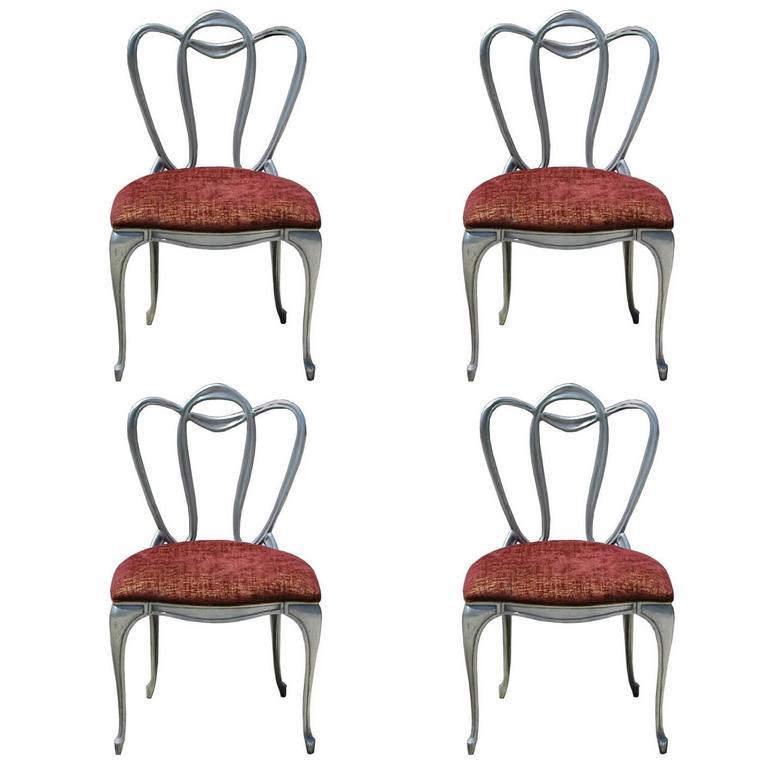 Hollywood Regency Aluminum Chair Set