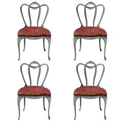 Hollywood Regency Aluminum Chair Set