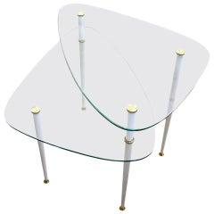 Two-Level Italian Side Table by Edoaardo Paoli, 1950s