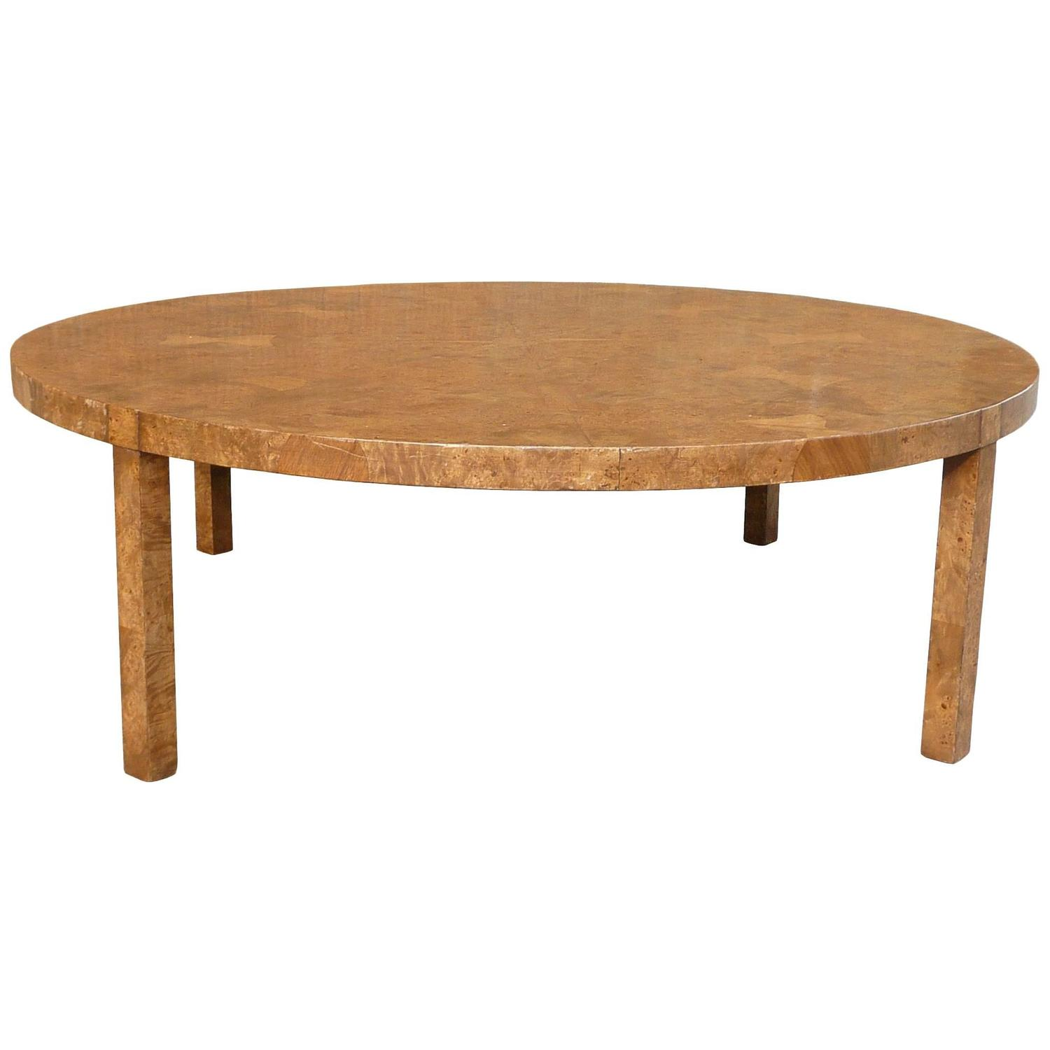Hollywood Regency Burl Wood Coffee Table At 1stdibs