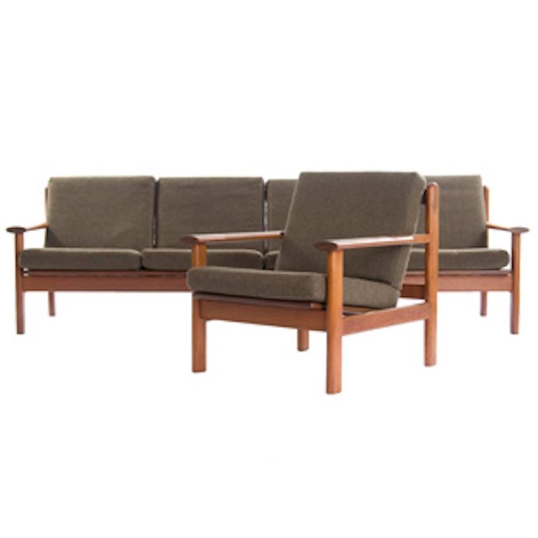 Danish Modern Sofa and Lounge Chair