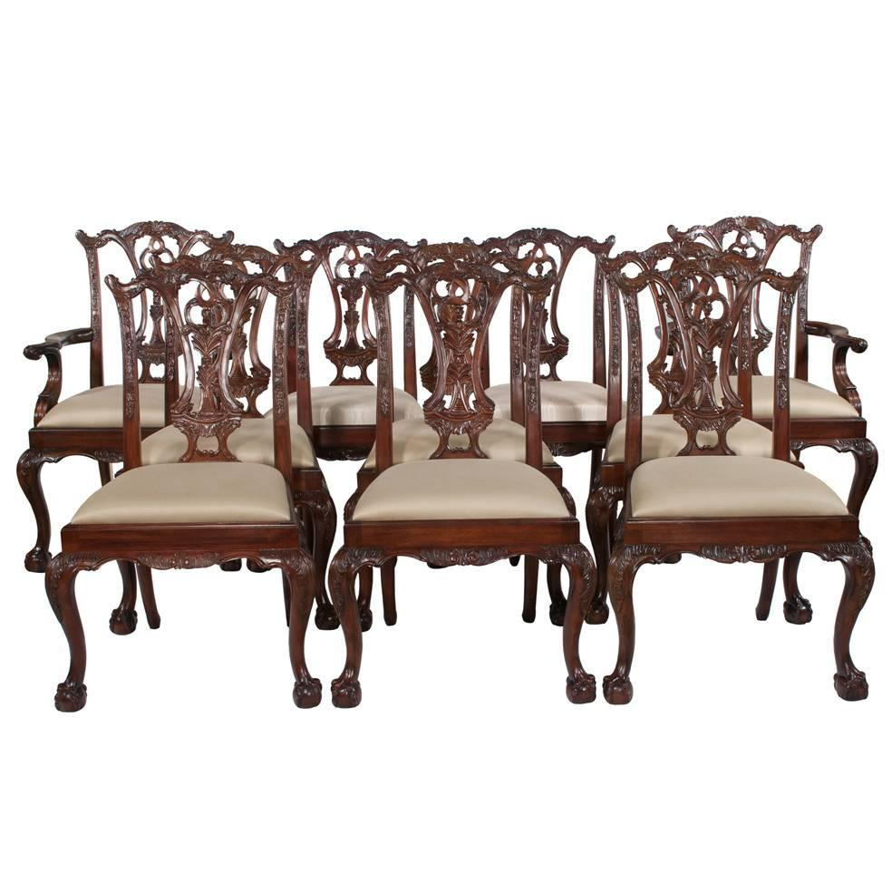Chippendale Mahogany Dining Room Chairs: Chippendale Mahogany Dining Chairs, S/10 At 1stdibs