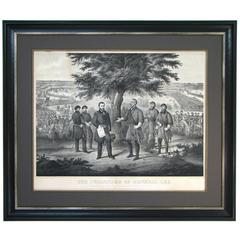"""The Surrender of General Lee"", First Edition Engraving, circa 1868"