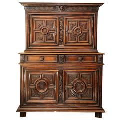 French Walnut and Chestnut Louis XIV Buffet du Corps, circa 1680