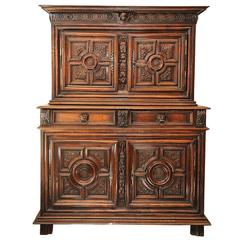 French Walnut and Chestnut Louis XIV Buffet Du Corps Cupboard, circa 1680