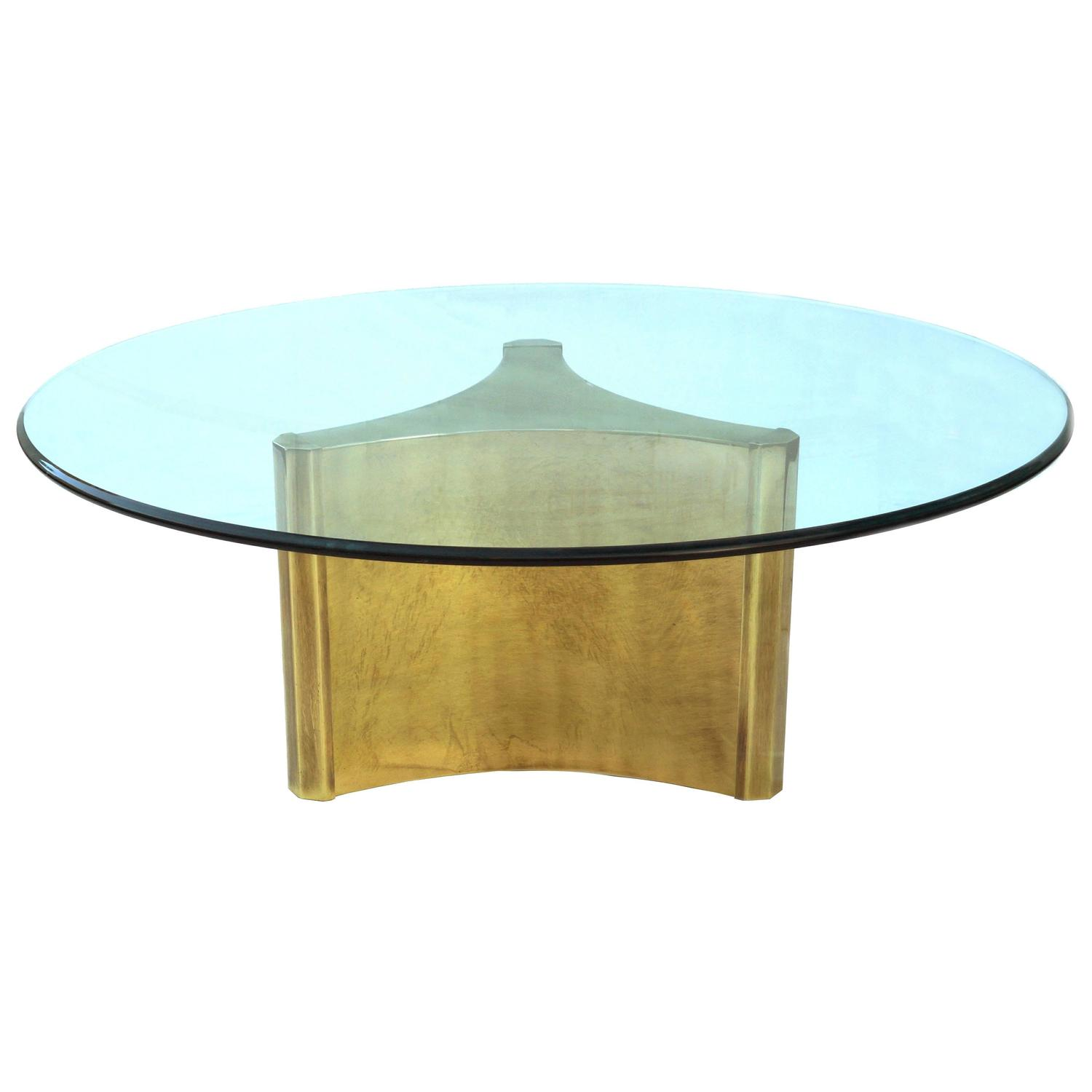 Mastercraft pedestal coffee sofa cocktail table with glass for Sofa coffee table