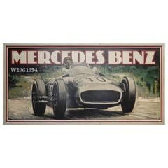 Massive Oil on Board Mercedes Grand Prix Race Car Painting
