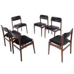 Set of Six Danish Modern Teak Dining Chairs