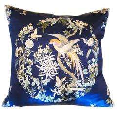 Framm & Company 1920s Chinese Dream Hand-Embroidered Pillow