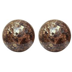 Resin Spheres Composed of Miscellaneous Vintage Hardware Parts