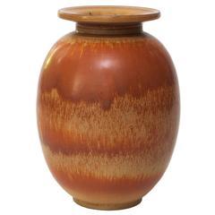 Scandinavian Modern Gunnar Nylund Hare's Glaze Vase for Rorstrand