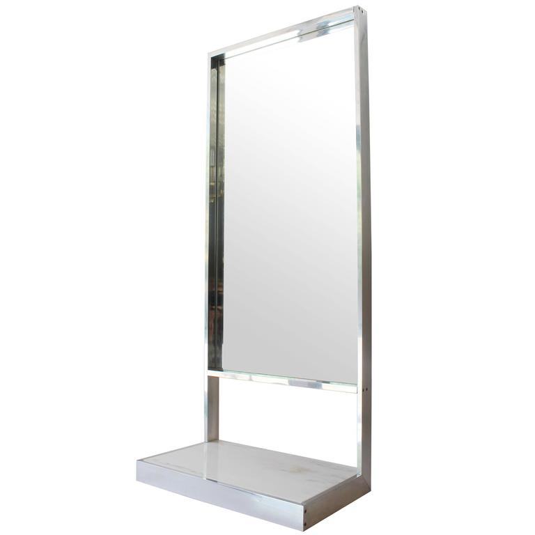 Wall mirror with shelf at 1stdibs for Mirror with shelf