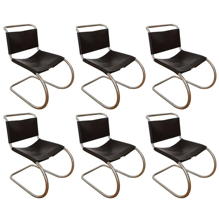 Set of Six MR Chairs For Sale