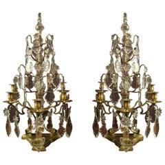 Pair of Large Louis XV Style Girandoles