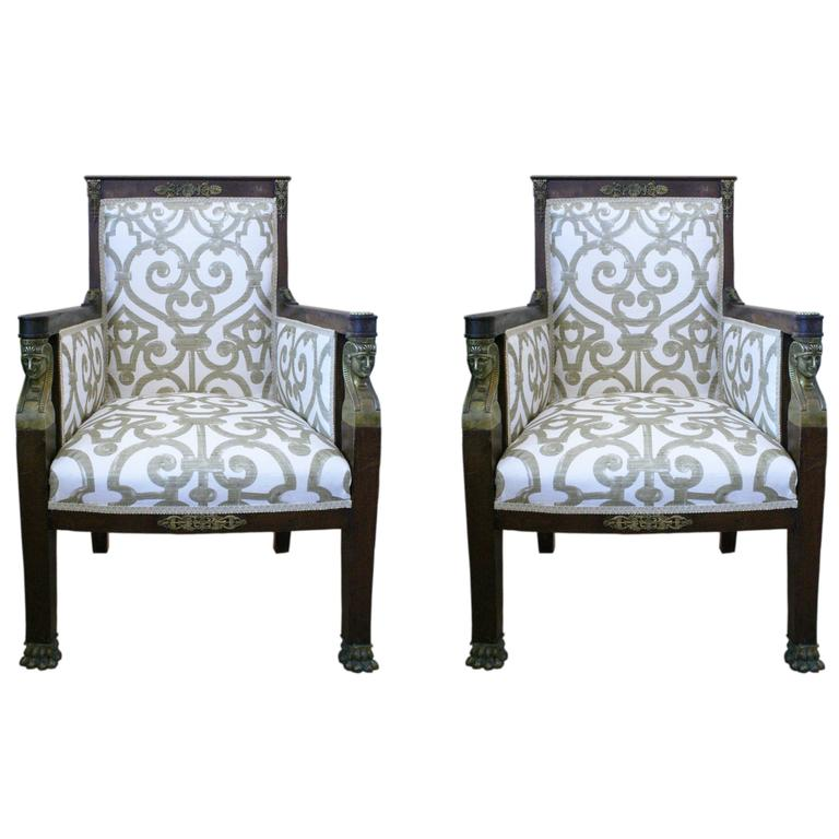 empire style armchairs at 1stdibs