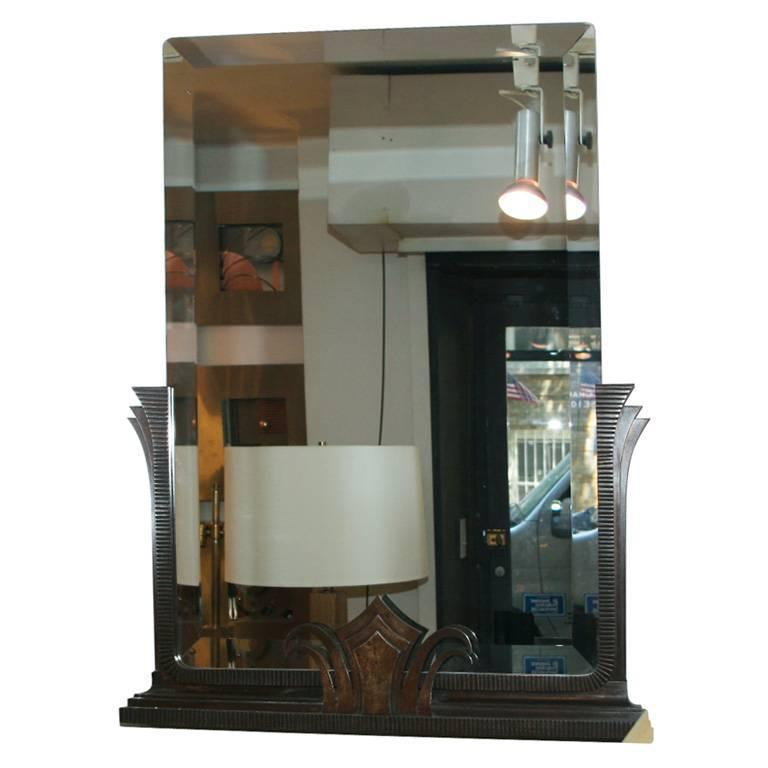 Art Deco Iron Mirror by Jules Bouy For Sale