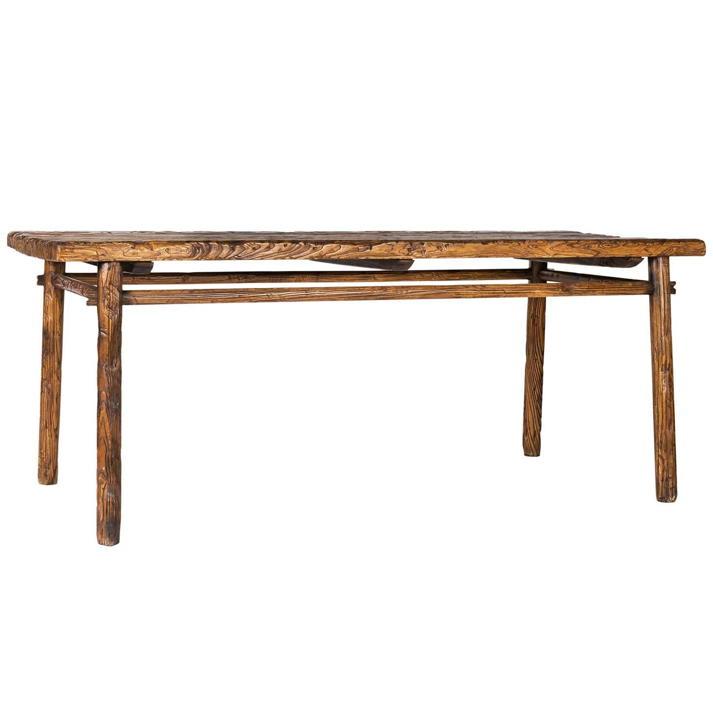 Provincial chinese dining table for sale at 1stdibs for Oriental dining table