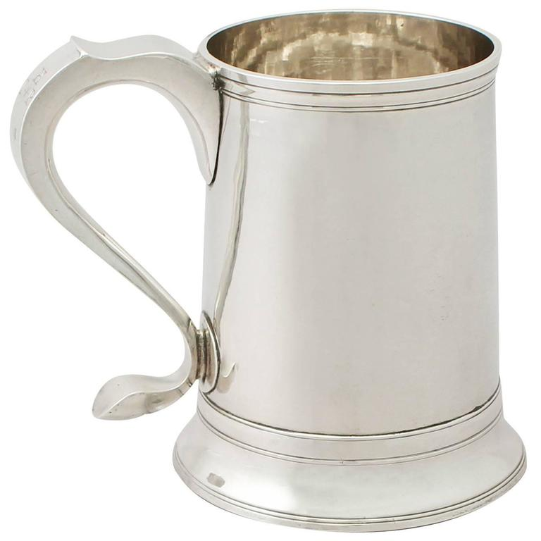 Newcastle Sterling Silver Pint Mug by John Langlands I & John Robertson I