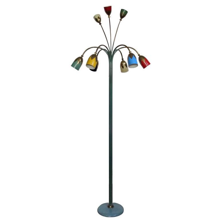 Beautiful floor lamp design angelo lelli 1940 at 1stdibs for Beautiful floor lamps