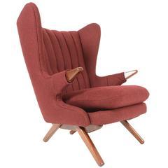 Svend Skipper Model 91 Papa Bear Chair in Burgundy