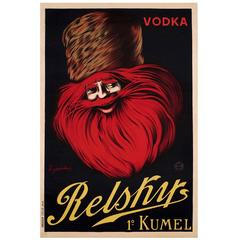 "Original Advertising Poster ""Vodka Relskys 1º Kumel"" by Leonetto Cappiello"
