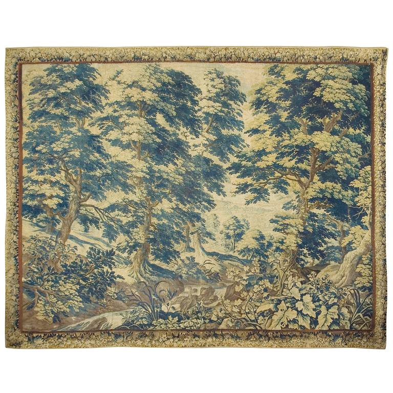 Antique Flemish Verdure Tapestry, circa 1720